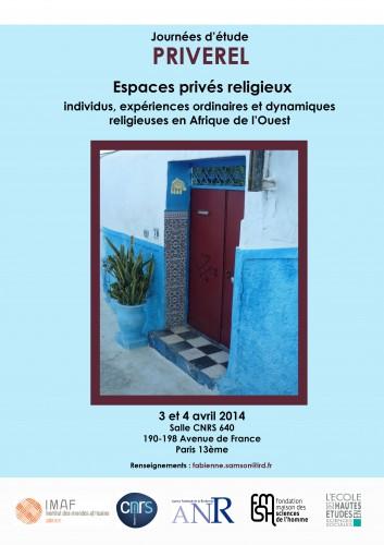Affiche espaces prives religieux